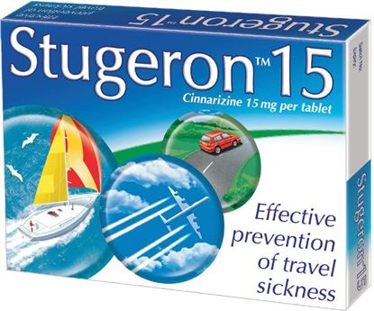 Picture of STUGERON TAB TRAVEL PACK 15MG- 15 TABLETS