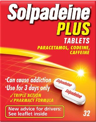 Picture of SOLPADEINE PLUS TAB NON SOLUBLE 32 TABLETS