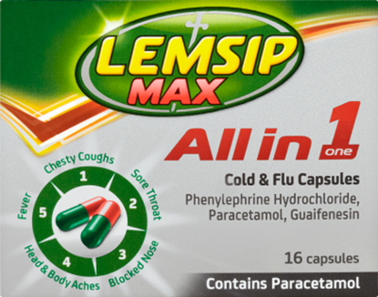 Picture of LEMSIP MAX ALL IN ONE CAPSULES - 16 PACK