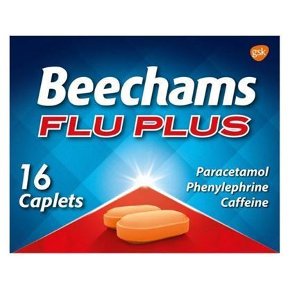 Picture of BEECHAMS FLU PLUS 16 CAPLETS