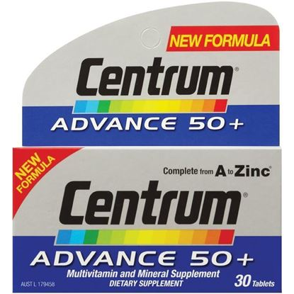 Picture of CENTRUM ADVANCE 50+ 30 TABLETS