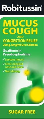 Picture of ROBITUSSIN PLUS MUCUS WITH CONGESTION-100ML