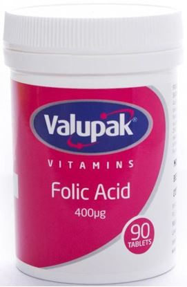 Picture of VALUPAK FOLIC ACID 400MCG