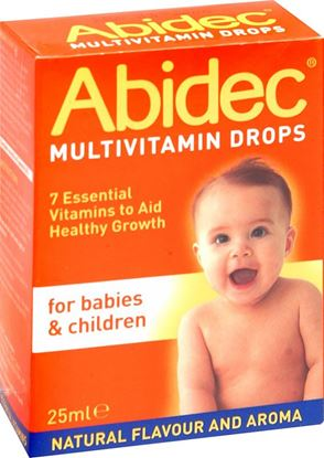Picture of ABIDEC MULTI-VIT DROPS [BABY & CHILD]- 25ML
