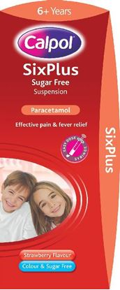 Picture of CALPOL SIX PLUS STRAWBERRY SUGARFREE- 200ML