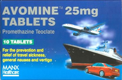 Picture of AVOMINE TABLETS 10 TABLETS