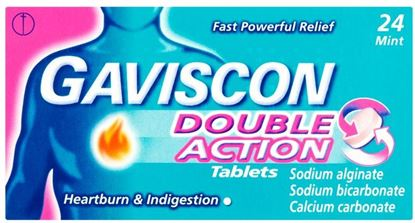 Picture of GAVISCON DOUBLE ACTION TABS 24 TABLETS