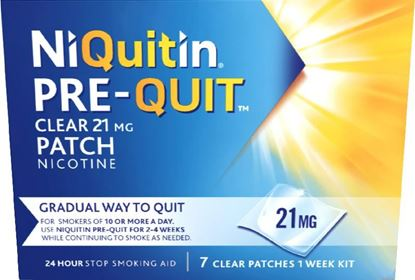 Picture of NIQUITIN 21MG PRE QUIT CLEAR PATCH