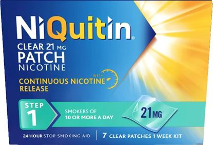 Picture of NIQUITIN CLR PATCH STEP 1 21MG