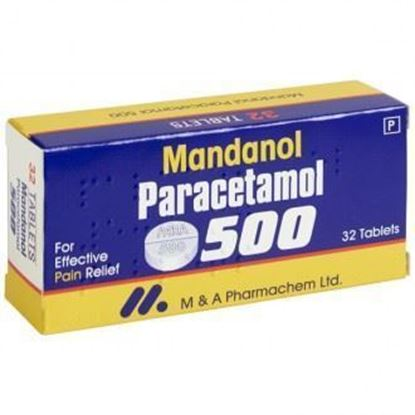 Picture of PARACETAMOL TABLETS 500MG 32 TABLETS