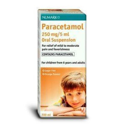 Picture of PARACETAMOL SUSP 250MG/5ML 200ML