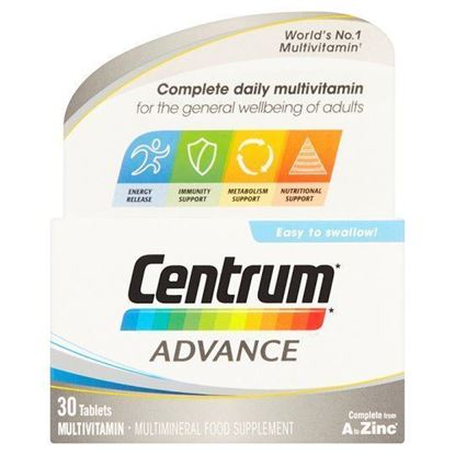 Picture of CENTRUM ADVANCE 30 TABLETS