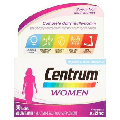 Picture of CENTRUM MULTIVITAMINS WOMAN 30 TABLETS